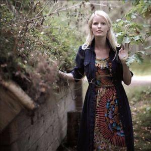 Anthro Edme & Essyllte Lappula Silk Dress